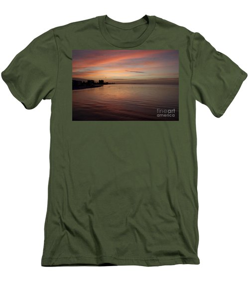 Men's T-Shirt (Slim Fit) featuring the photograph Sunrise Over Fort Myers Beach Photo by Meg Rousher
