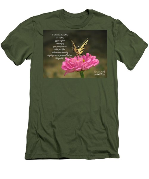 Swallowtail On A Zinnia Men's T-Shirt (Athletic Fit)