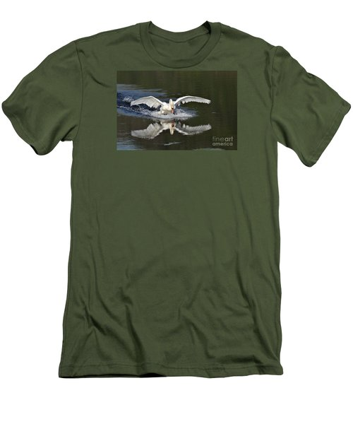 Swan Landing Men's T-Shirt (Athletic Fit)