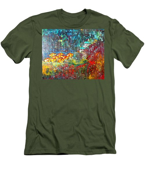 Beach House Men's T-Shirt (Slim Fit) by George Riney