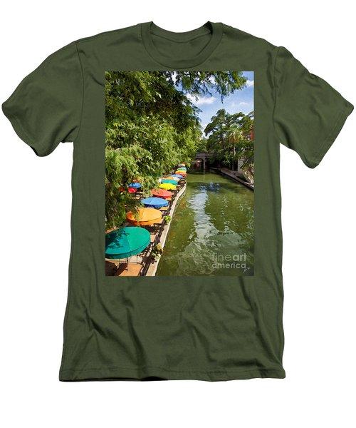 The River Walk Men's T-Shirt (Slim Fit) by Erika Weber
