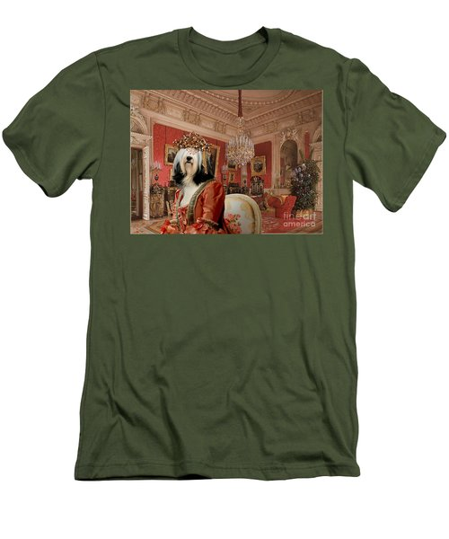 Tibetan Terrier Art Canvas Print Men's T-Shirt (Athletic Fit)