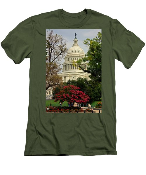 Men's T-Shirt (Slim Fit) featuring the photograph United States Capitol by Suzanne Stout