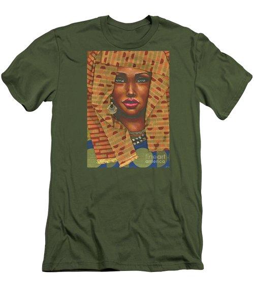 Men's T-Shirt (Slim Fit) featuring the painting Headwrap by Alga Washington