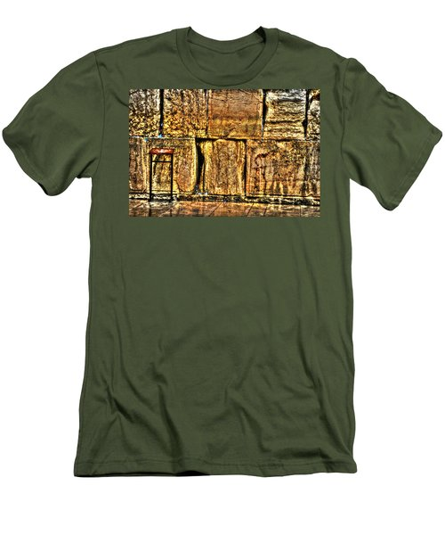 Men's T-Shirt (Slim Fit) featuring the photograph Wailing Wall by Doc Braham
