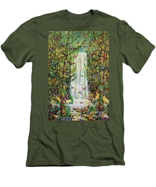 Waterfall Of Prosperity II Men's T-Shirt (Athletic Fit)