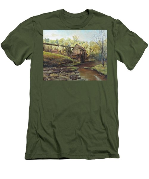 Watermill At Daybreak  Men's T-Shirt (Athletic Fit)