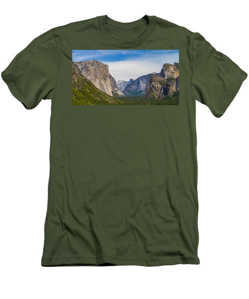 Yosemite Valley Men's T-Shirt (Slim Fit) by Brian Williamson