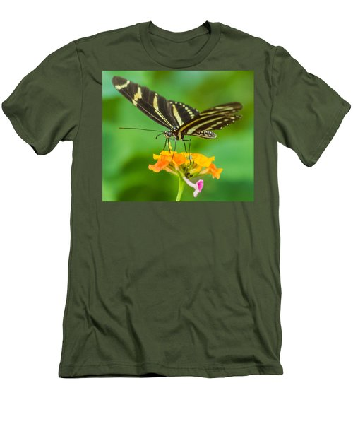 Men's T-Shirt (Slim Fit) featuring the photograph Zebra Longwing by Jane Luxton