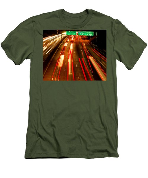 Men's T-Shirt (Slim Fit) featuring the photograph 101 At Night by Matt Harang