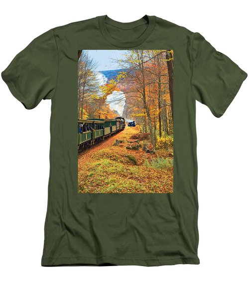 Cass Scenic Railroad Men's T-Shirt (Slim Fit) by Mary Almond