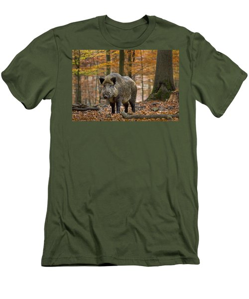 Men's T-Shirt (Slim Fit) featuring the photograph 121213p283 by Arterra Picture Library
