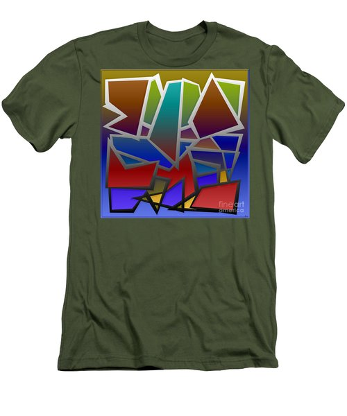 1624 Abstract Thought Men's T-Shirt (Athletic Fit)