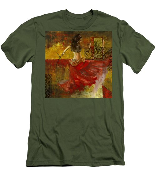 Abstract Belly Dancer 6 Men's T-Shirt (Athletic Fit)