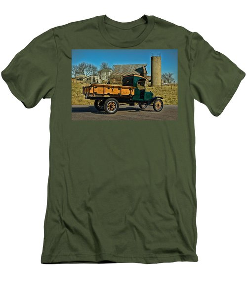 1923 Ford Model Tt One Ton Truck Men's T-Shirt (Slim Fit) by Tim McCullough