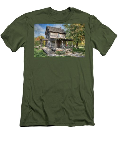 19th Century Cabin Men's T-Shirt (Athletic Fit)
