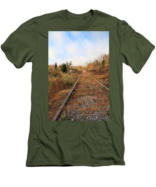 Abandoned Tracks Men's T-Shirt (Slim Fit) by Melinda Fawver