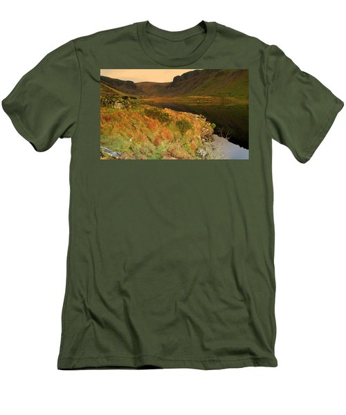Men's T-Shirt (Slim Fit) featuring the photograph Annascaul Lake by Barbara Walsh