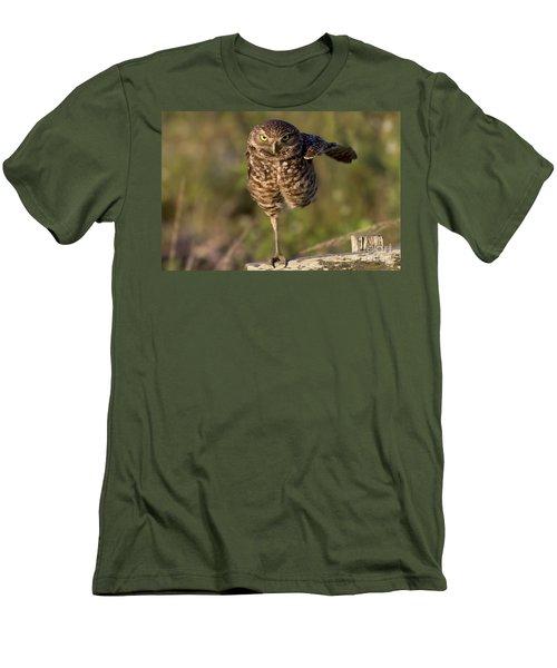 Burrowing Owl Photograph Men's T-Shirt (Slim Fit) by Meg Rousher