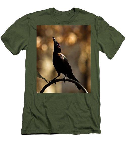 Men's T-Shirt (Slim Fit) featuring the photograph Common Grackle by Robert L Jackson