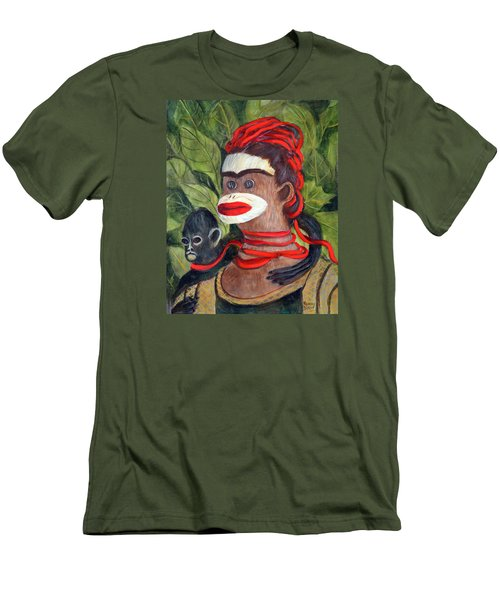 With Love To The Artist Frida Kahlo Men's T-Shirt (Slim Fit) by Randy Burns