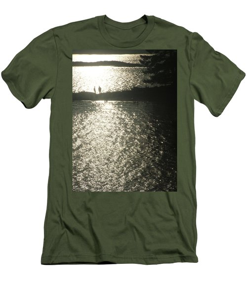 2 At The Beach Men's T-Shirt (Slim Fit) by Mark Alan Perry