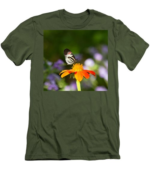 Piano Key Butterfly Men's T-Shirt (Athletic Fit)