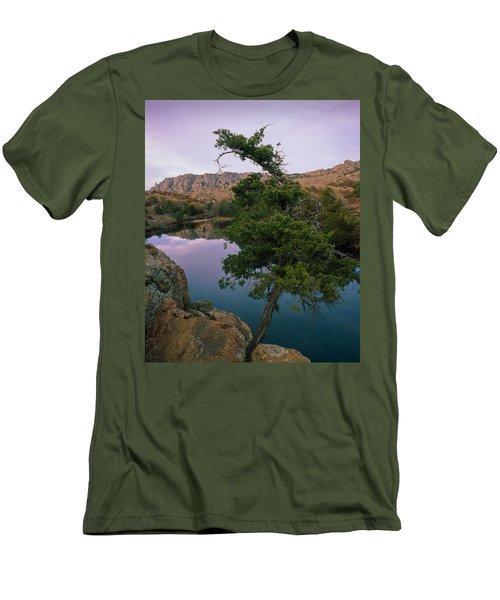 Post Oak Lake And Elk Mountain Men's T-Shirt (Slim Fit)