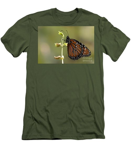 Men's T-Shirt (Slim Fit) featuring the photograph Queen Butterfly by Meg Rousher