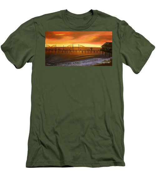 Redondo Beach Pier At Sunset Men's T-Shirt (Athletic Fit)