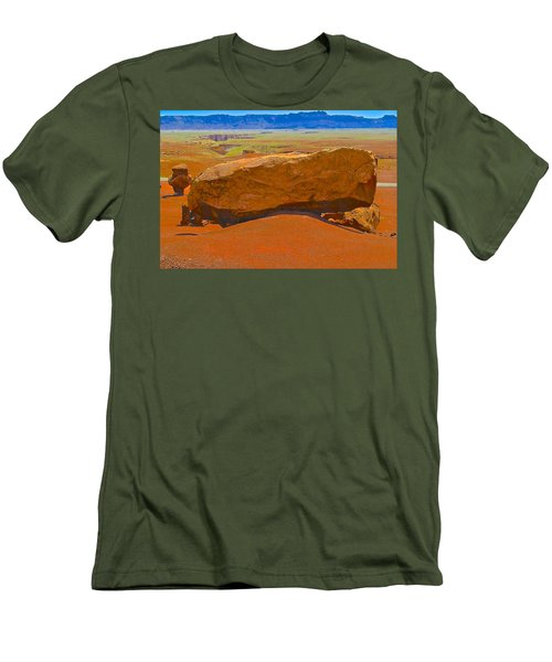 Rock Orange Men's T-Shirt (Athletic Fit)