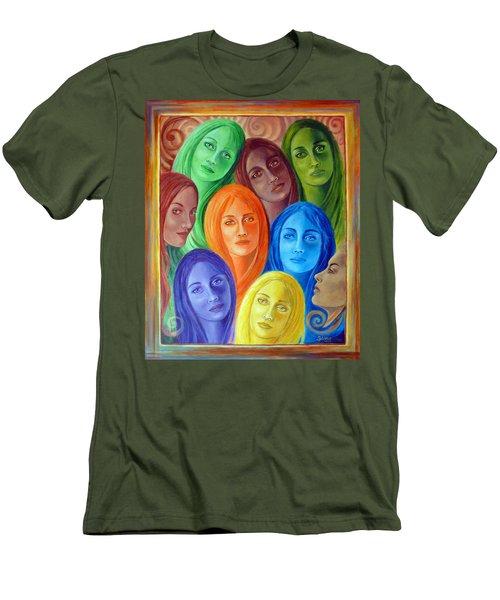 Serene Sisters Men's T-Shirt (Slim Fit) by Sylvia Kula