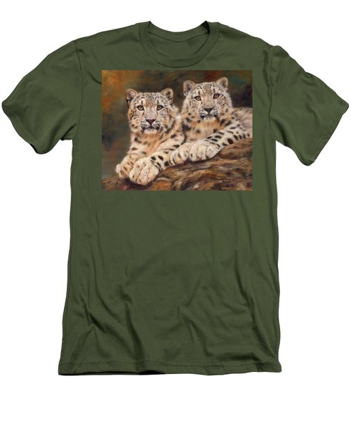 Snow Leopards Men's T-Shirt (Slim Fit)
