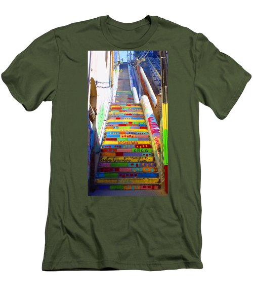 Stairway To Heaven Valparaiso  Chile Men's T-Shirt (Athletic Fit)