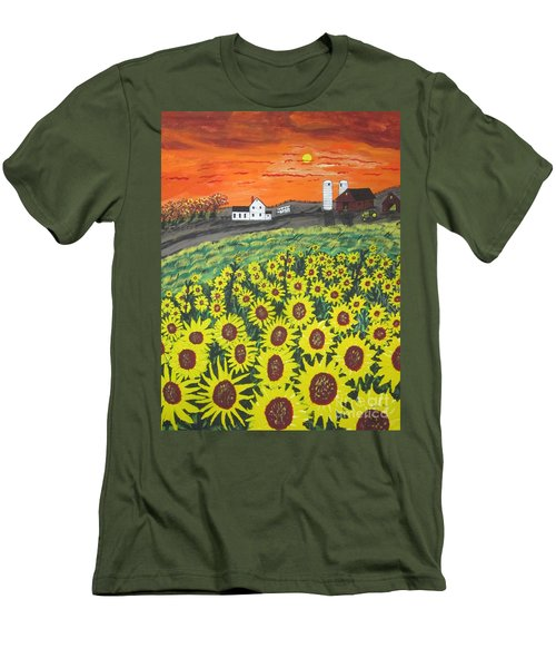 Sunflower Valley Farm Men's T-Shirt (Athletic Fit)