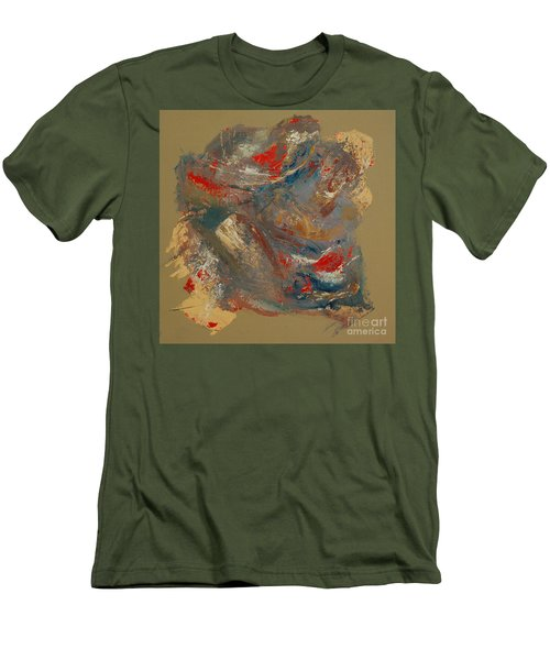 Men's T-Shirt (Slim Fit) featuring the painting Syncopation 2 by Mini Arora