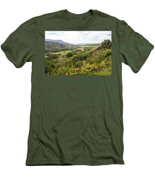Men's T-Shirt (Slim Fit) featuring the photograph Taro Fields by Suzanne Luft