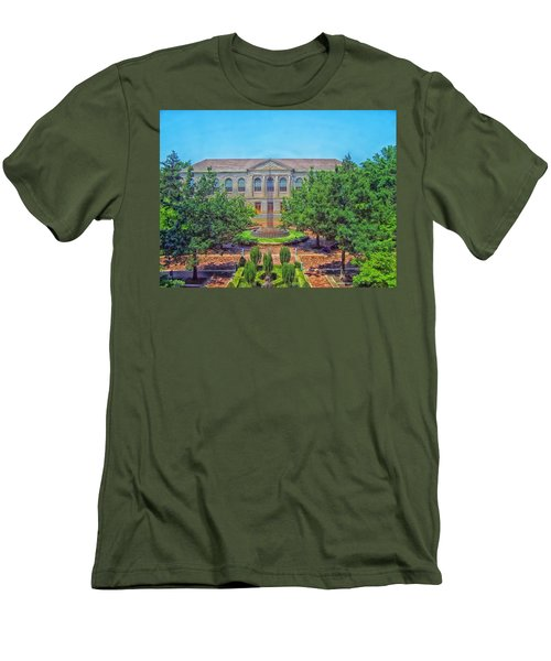The Old Main - University Of Arkansas Men's T-Shirt (Slim Fit) by Mountain Dreams