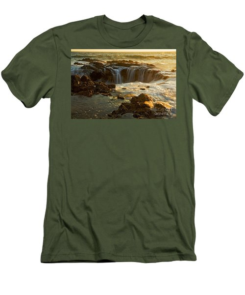 Thor's Well Men's T-Shirt (Slim Fit) by Nick  Boren