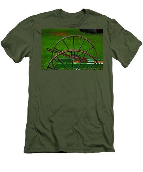 Wheels Of Time Men's T-Shirt (Slim Fit) by Rowana Ray