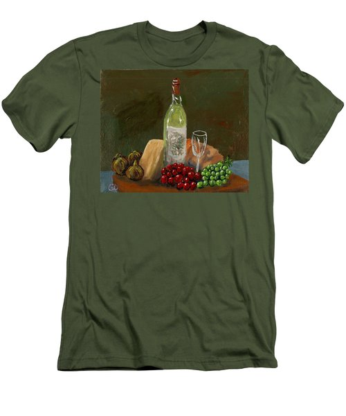 White Wine Men's T-Shirt (Athletic Fit)