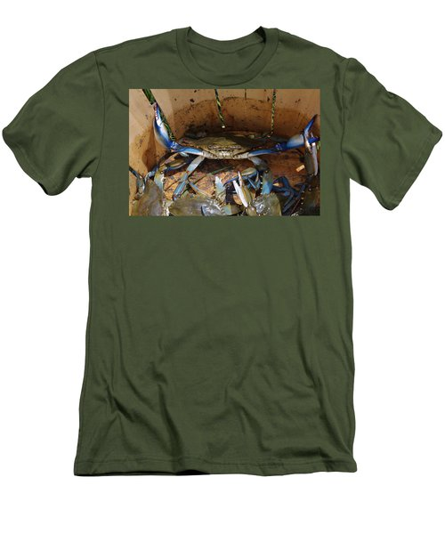 Men's T-Shirt (Slim Fit) featuring the photograph 24 Crab Challenge by Greg Graham