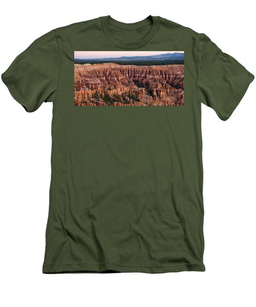 High Angle View Of Rock Formations Men's T-Shirt (Athletic Fit)