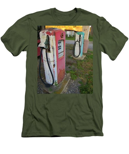 33 Cents Per Gallon Men's T-Shirt (Slim Fit) by Jean Goodwin Brooks