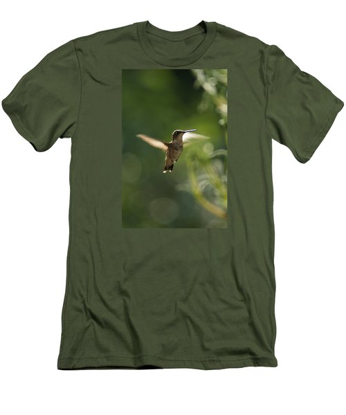 Men's T-Shirt (Slim Fit) featuring the photograph Hummer by Heidi Poulin