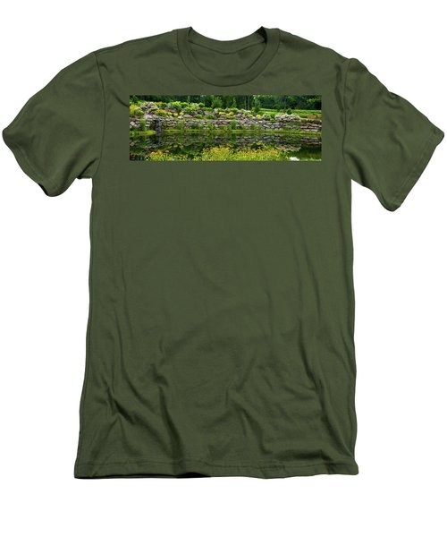 Rocks And Plants In Rock Garden Men's T-Shirt (Athletic Fit)