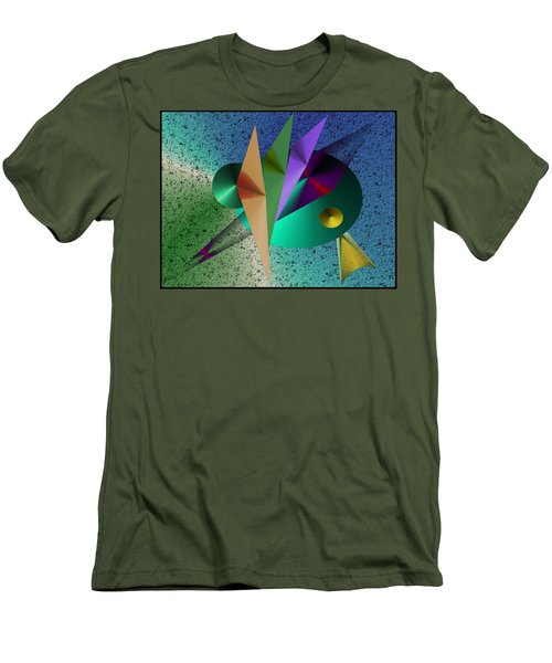 Abstract Bird Of Paradise Men's T-Shirt (Athletic Fit)