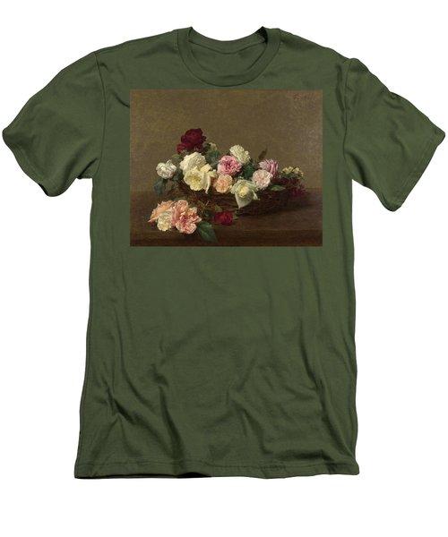 A Basket Of Roses Men's T-Shirt (Athletic Fit)