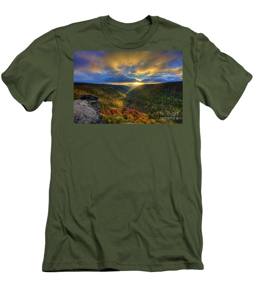 A Blue And Gold Sunset Men's T-Shirt (Athletic Fit)