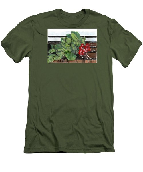 A Bunch Of Radishes  Men's T-Shirt (Slim Fit) by Francine Heykoop